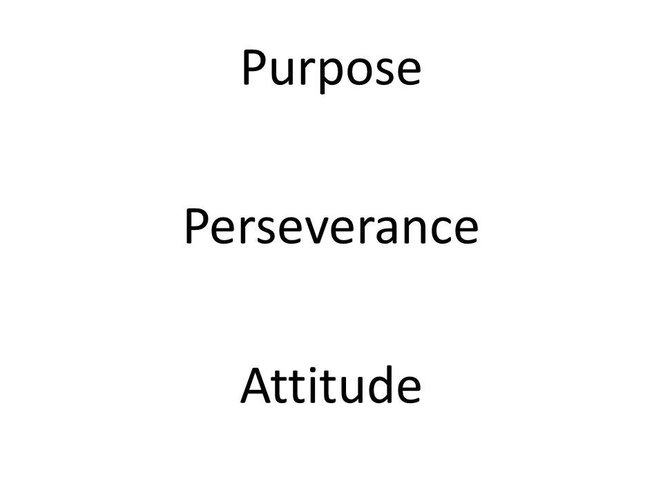 Purpose Perseverance Attitude