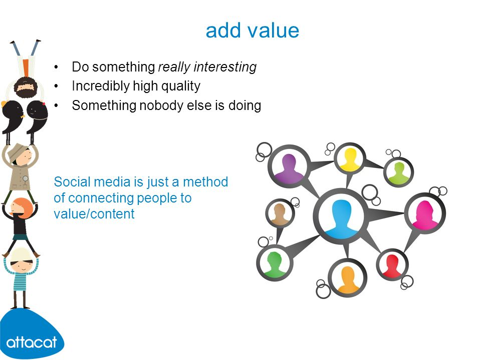creating content What value can you contribute that nobody else can.