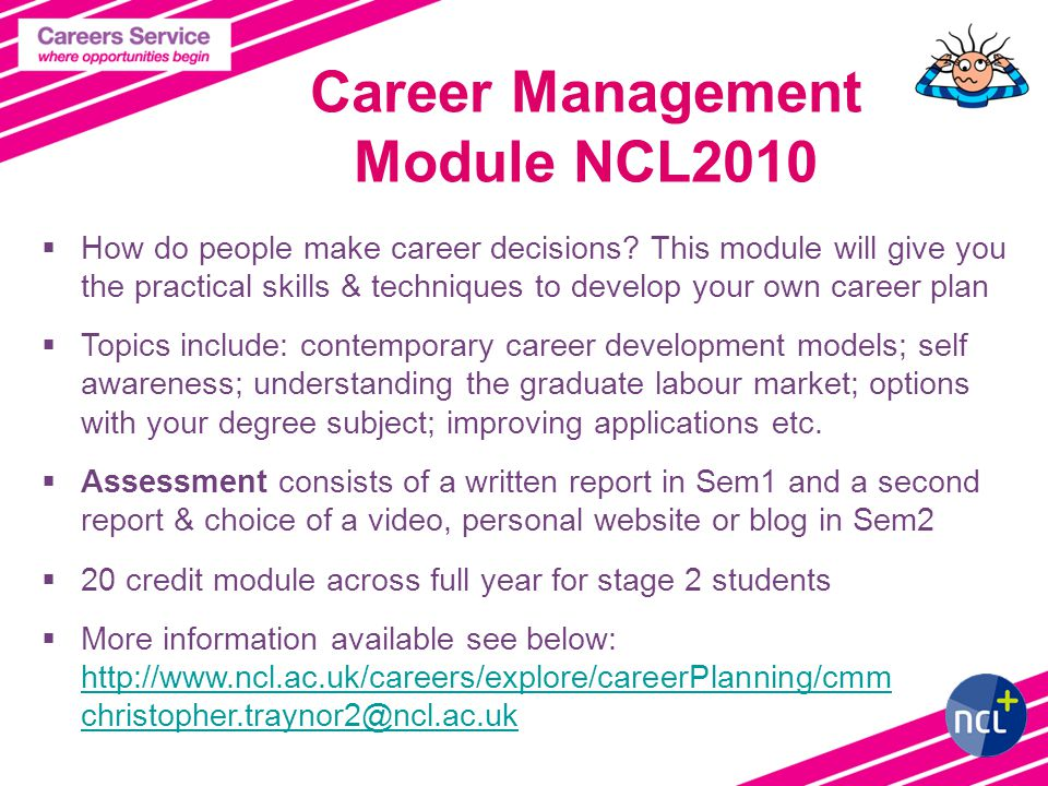Career Management Module NCL2010  How do people make career decisions.