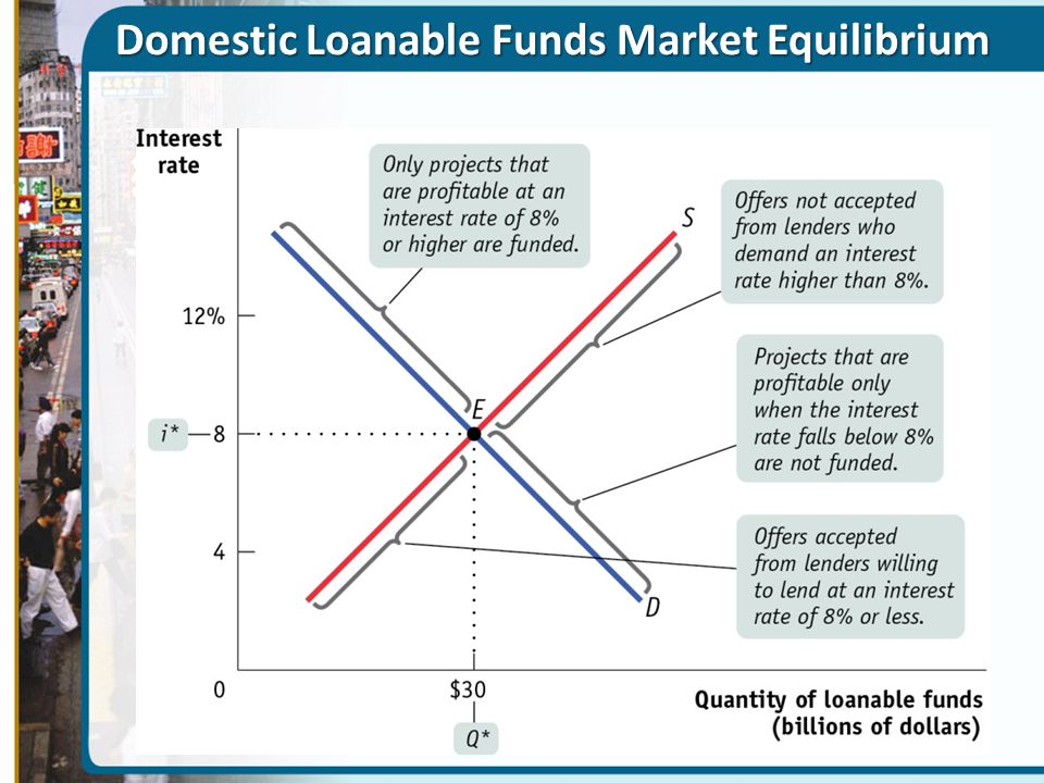 Domestic Loanable Funds Market Equilibrium