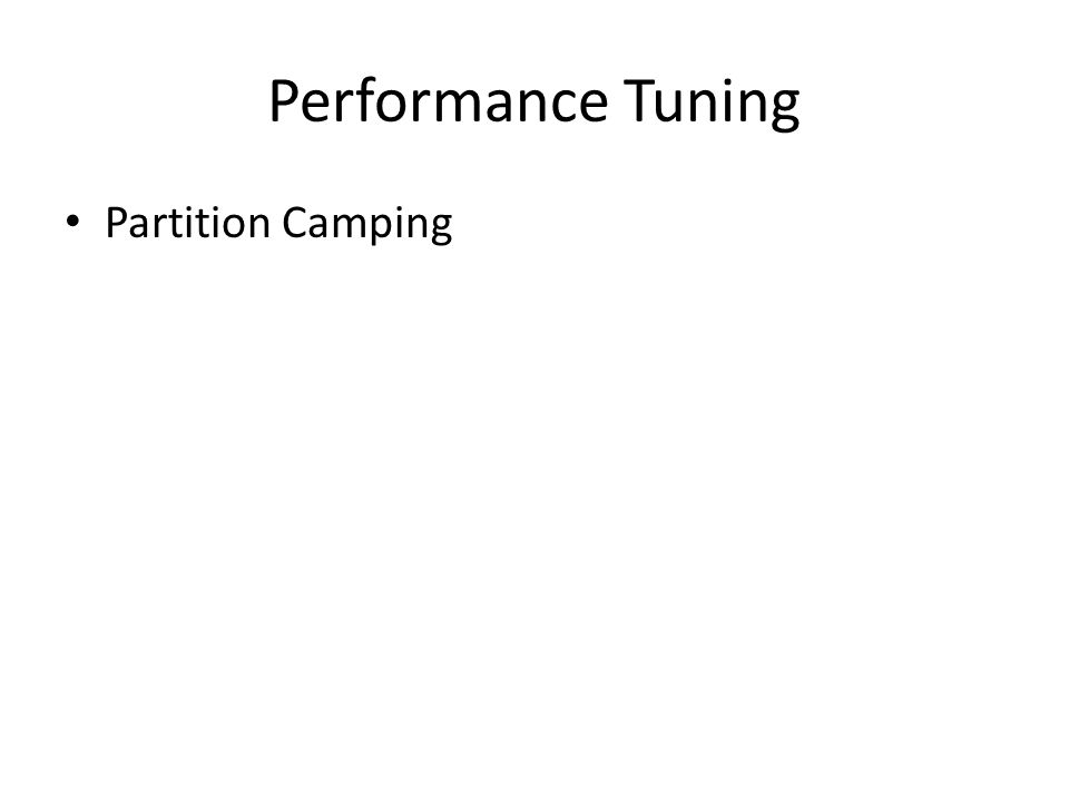 Performance Tuning Partition Camping