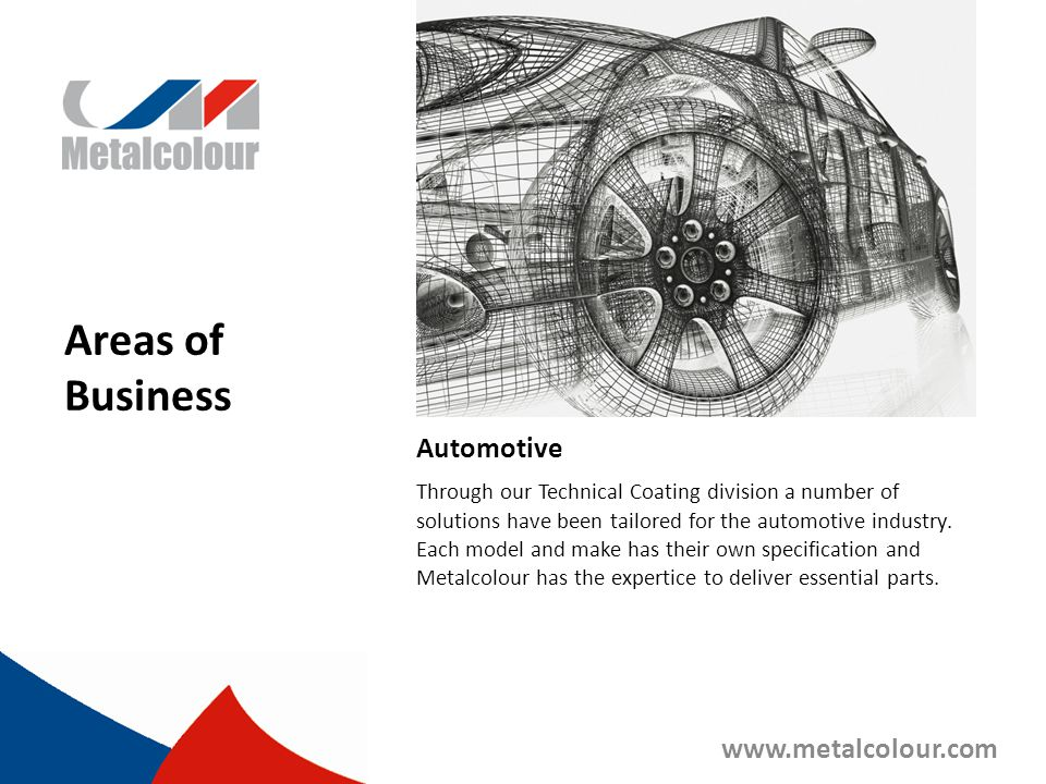 Automotive Through our Technical Coating division a number of solutions have been tailored for the automotive industry. Each model and make has their