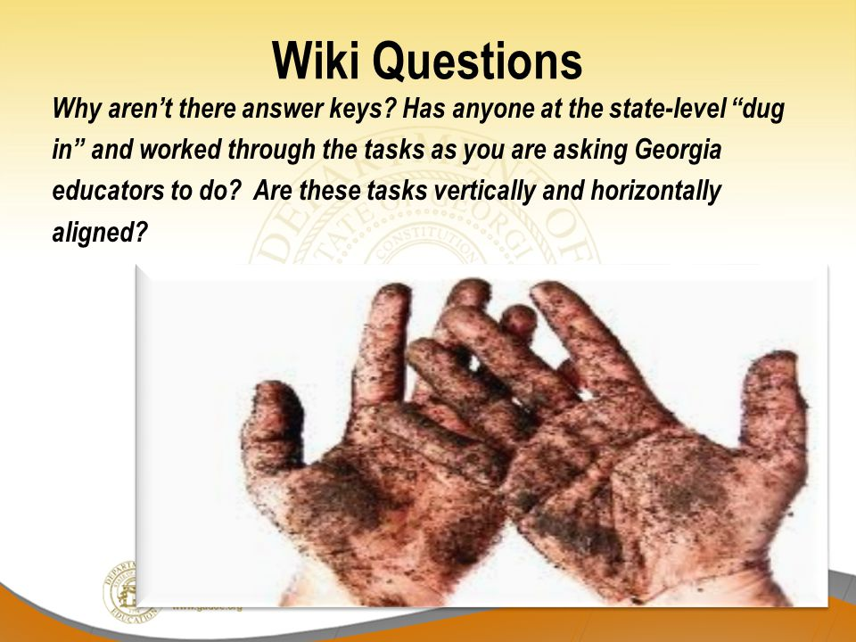 Wiki Questions Why aren't there answer keys.