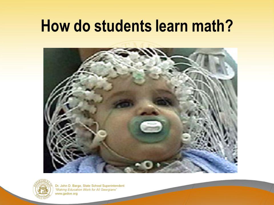 How do students learn math