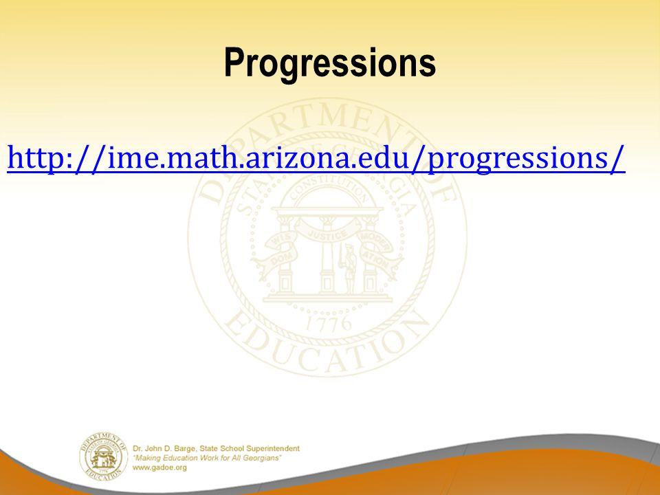 Progressions http://ime.math.arizona.edu/progressions/