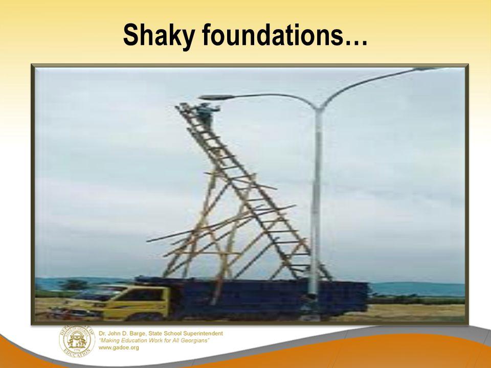 Shaky foundations…