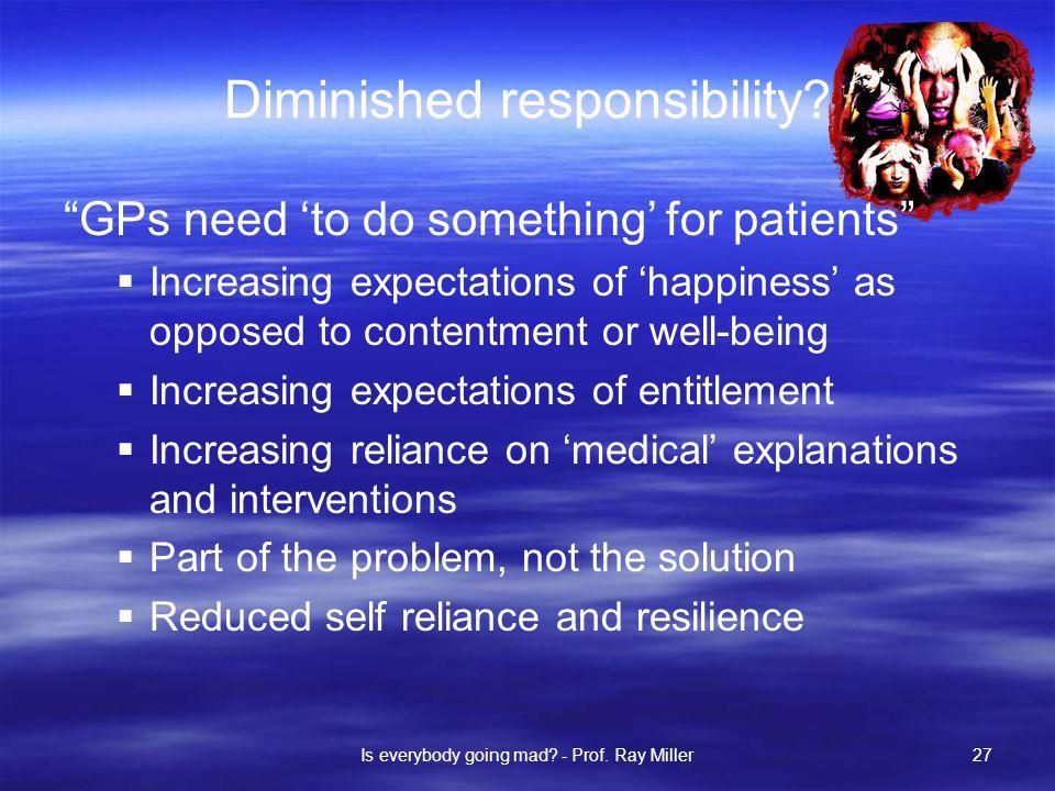 Diminished responsibility.