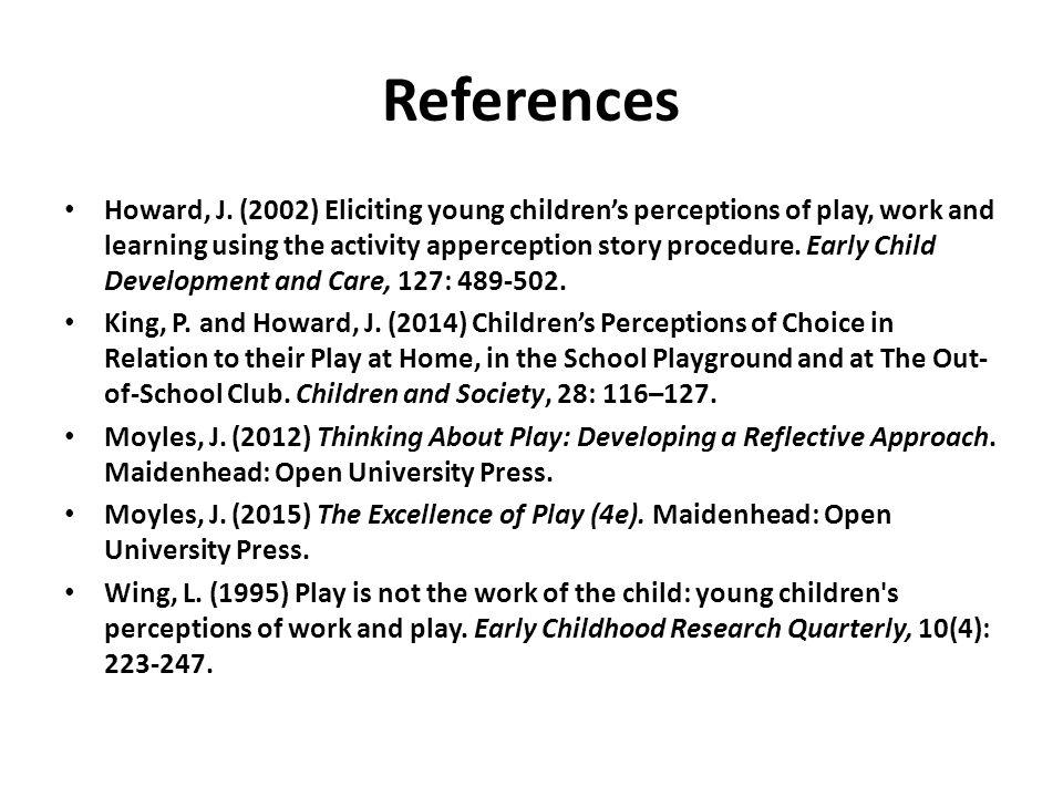 References Howard, J.
