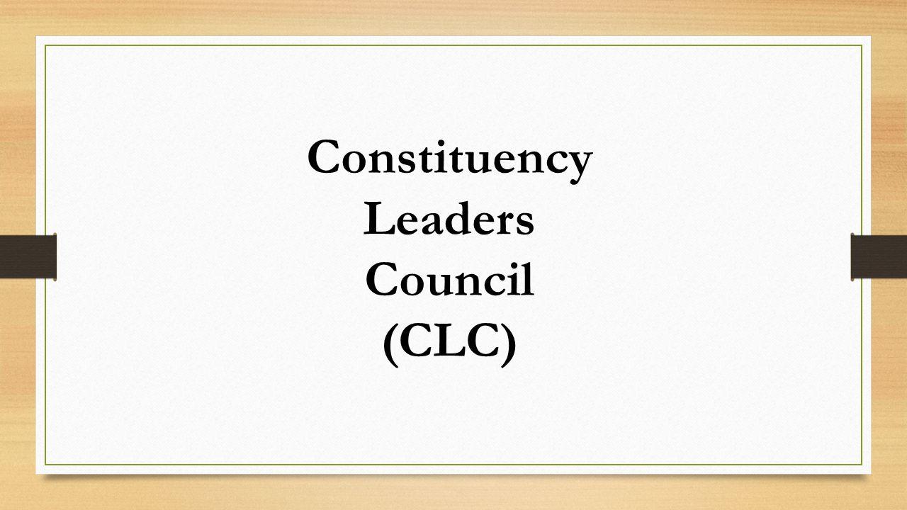 Constituency Leaders Council (CLC)