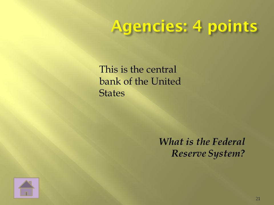 What is the Federal Reserve System 21