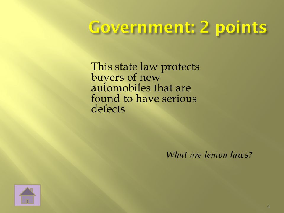 What are lemon laws 4