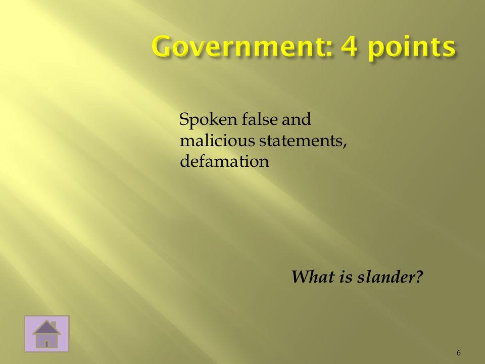 What is slander 6