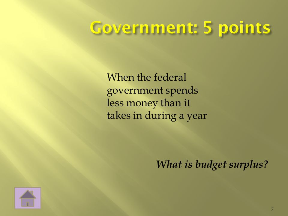 What is budget surplus 7