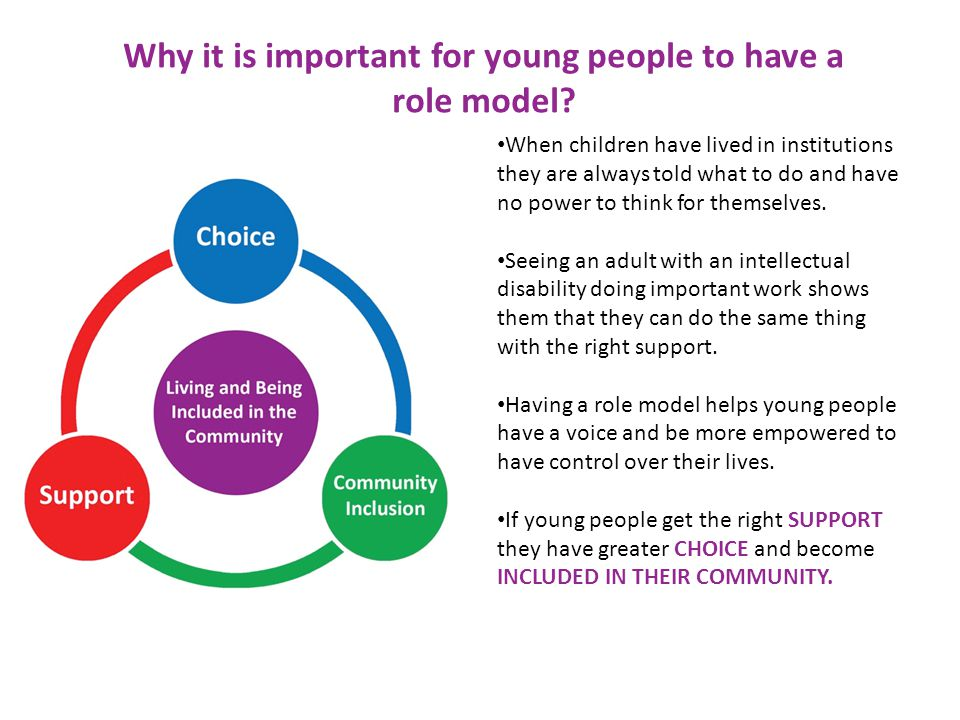 Why it is important for young people to have a role model.
