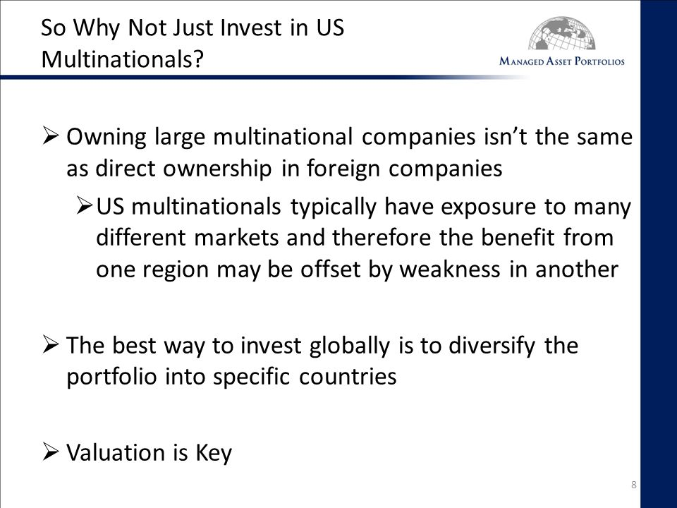 So Why Not Just Invest in US Multinationals.