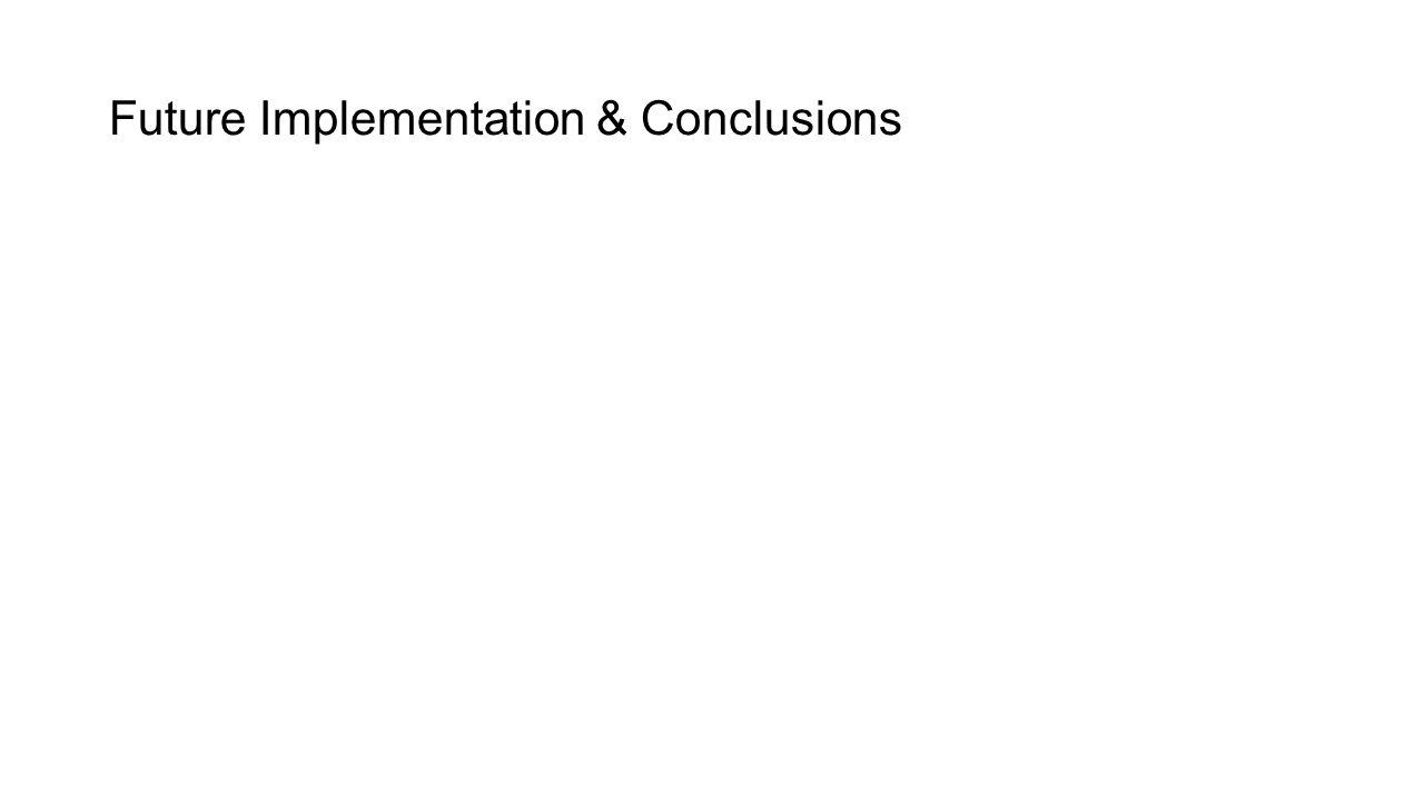 Future Implementation & Conclusions