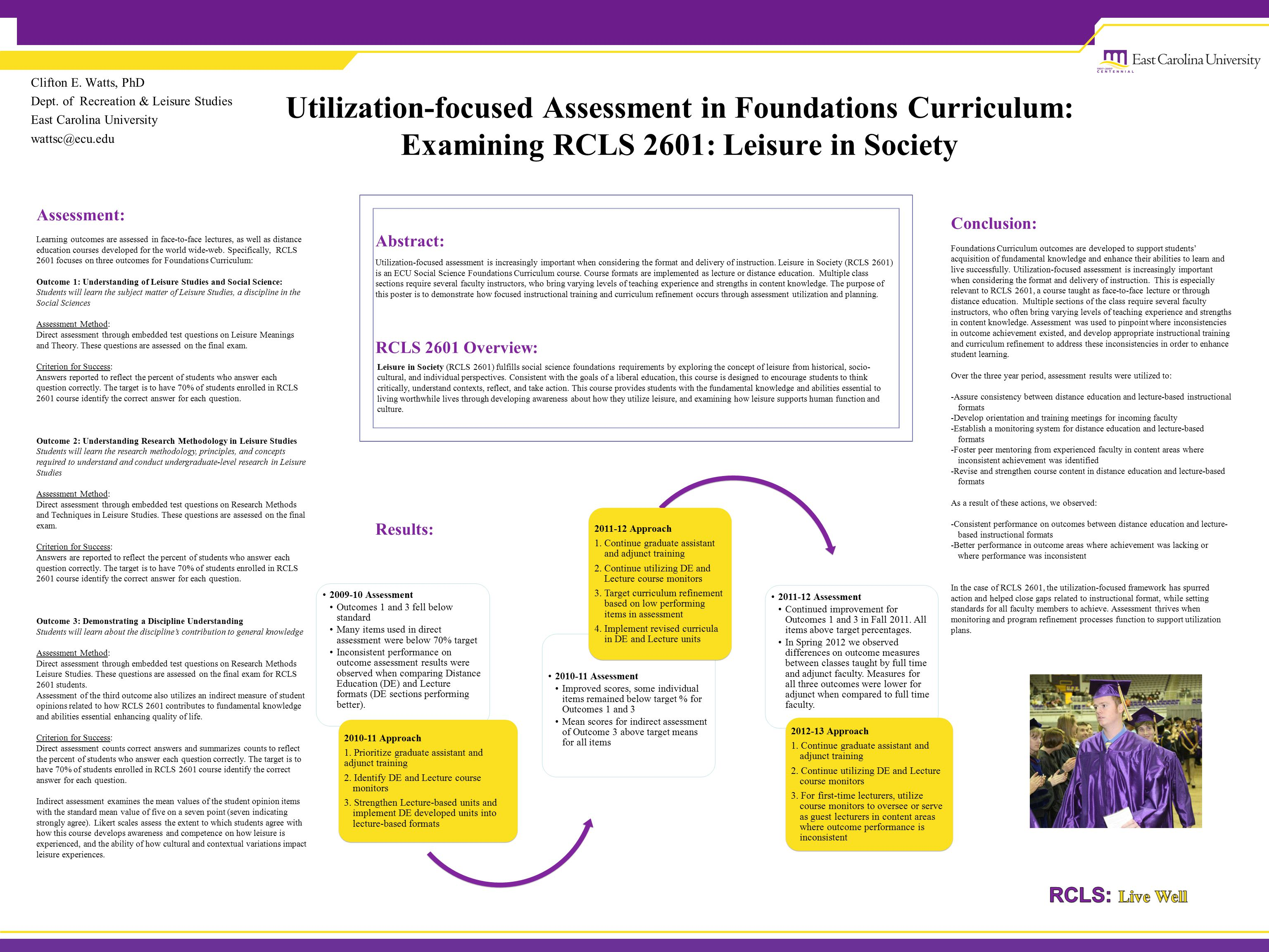 Utilization-focused Assessment in Foundations Curriculum: Examining RCLS 2601: Leisure in Society Clifton E.