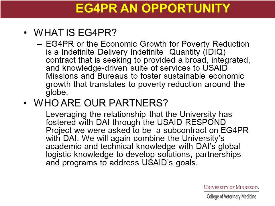 EG4PR AN OPPORTUNITY WHAT IS EG4PR.