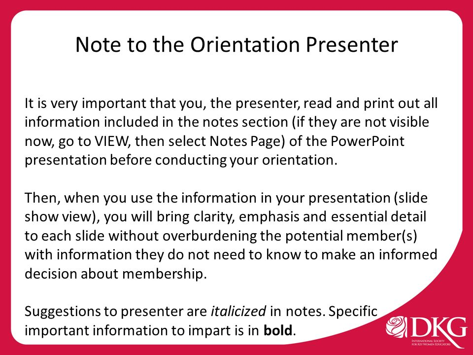 _______ Chapter ________ (geographical) State Organization ________________________ (location) Pride in the Big Picture …an orientation for potential members