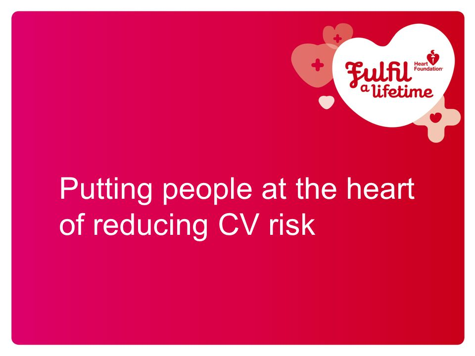 Putting people at the heart of reducing CV risk