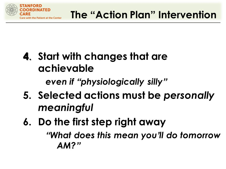 The Action Plan Intervention 4. 4.