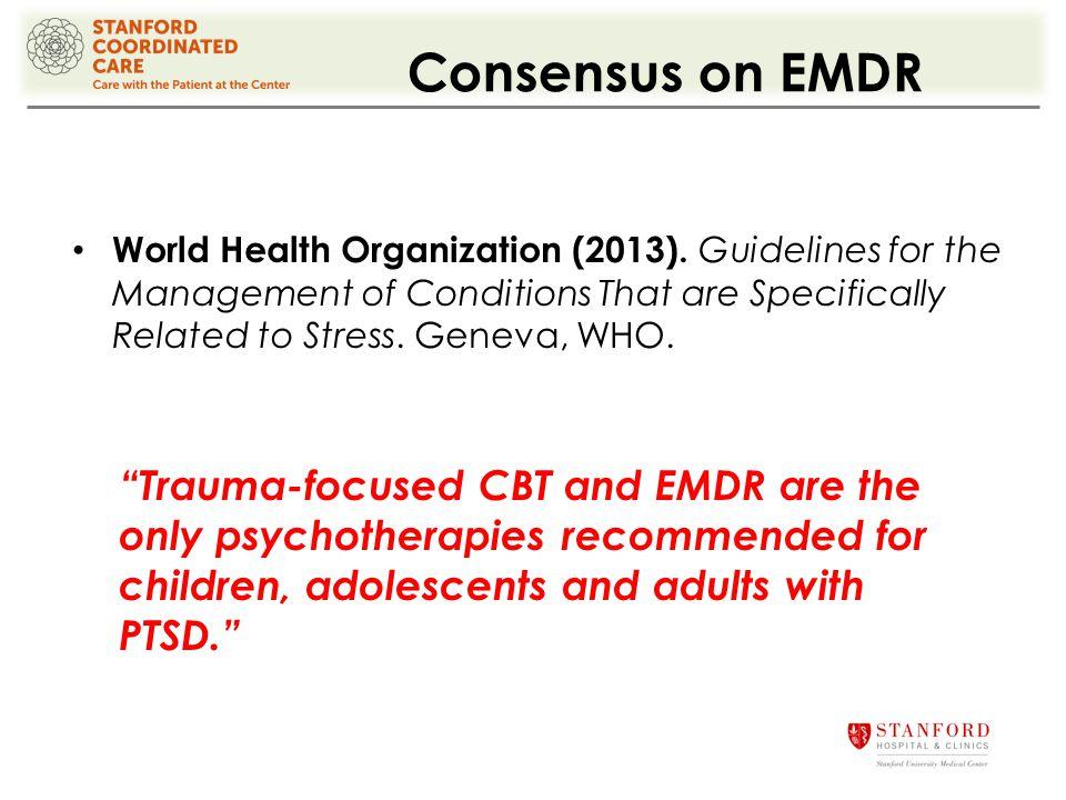 Consensus on EMDR World Health Organization (2013).