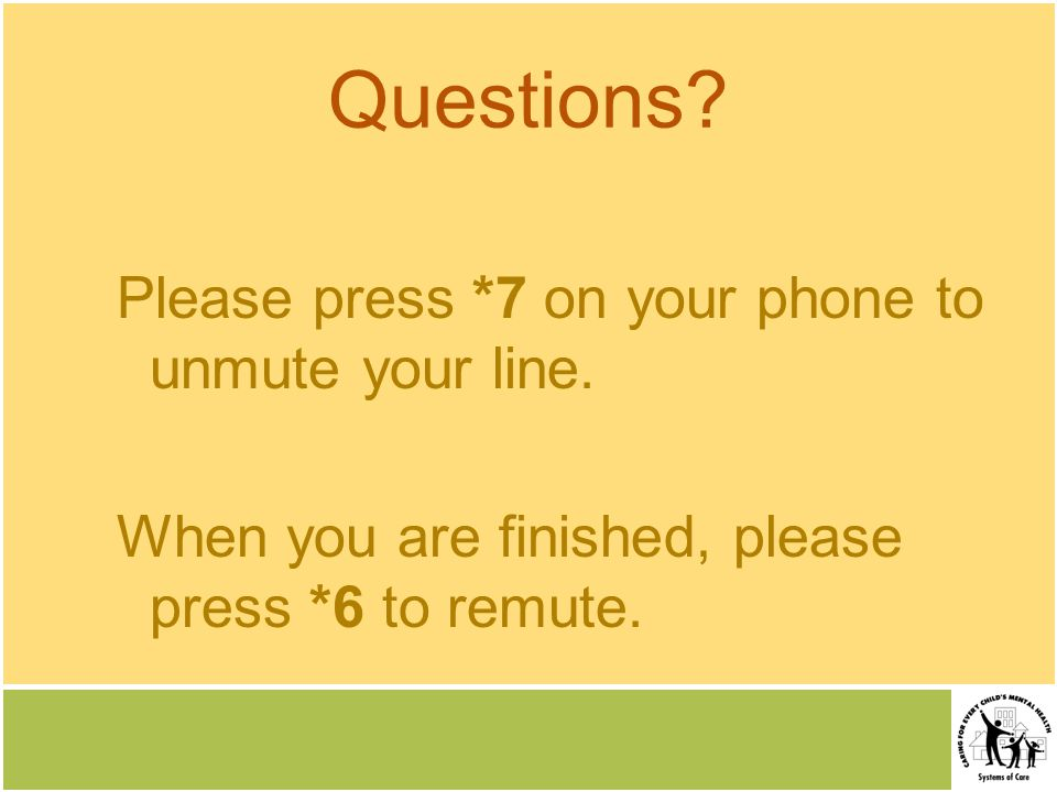 Questions. Please press *7 on your phone to unmute your line.