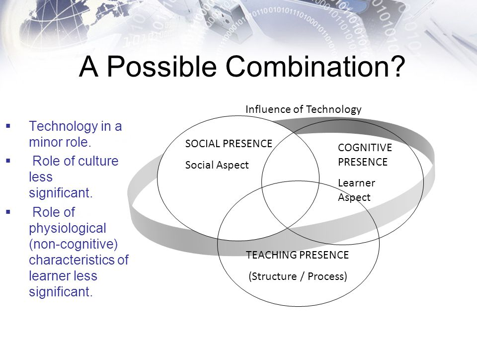A Possible Combination?  Technology in a minor role.  Role of culture less significant.  Role of physiological (non-cognitive) characteristics of l