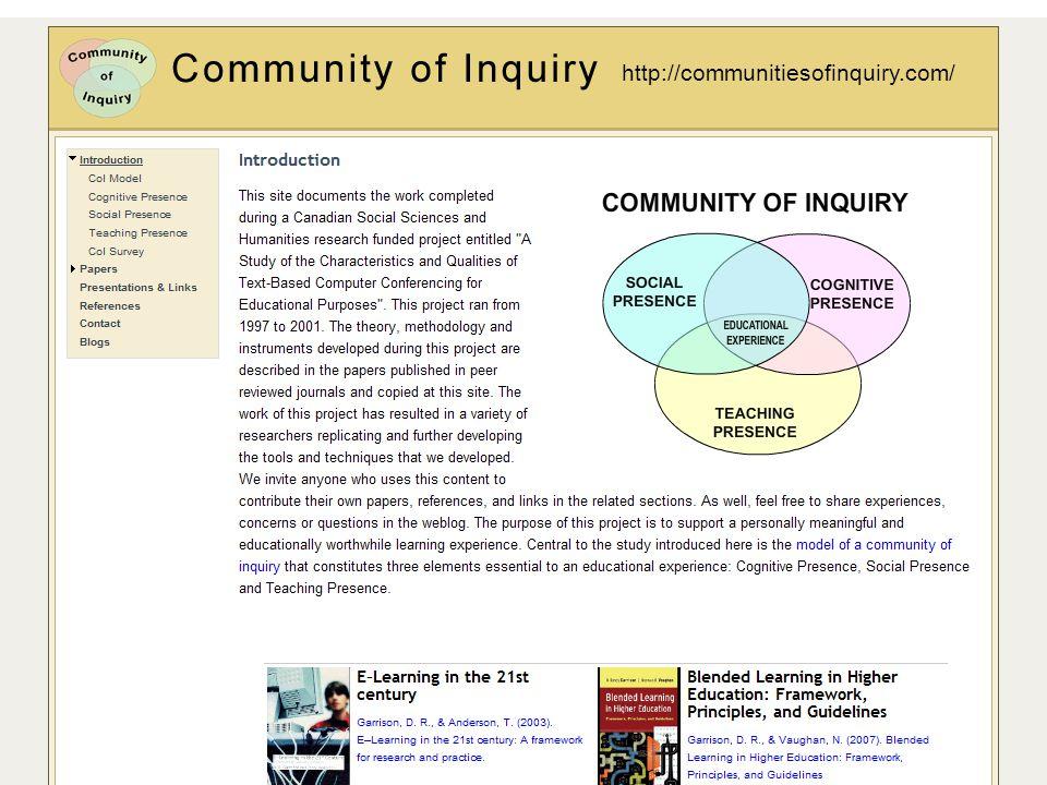 http://communitiesofinquiry.com/