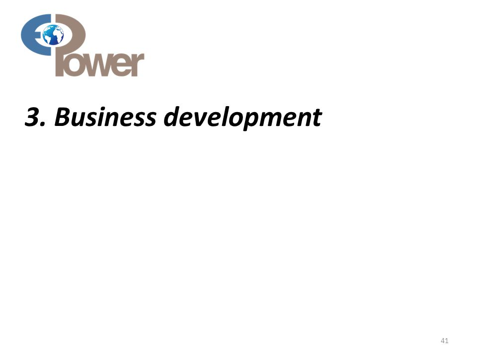 3. Business development 41
