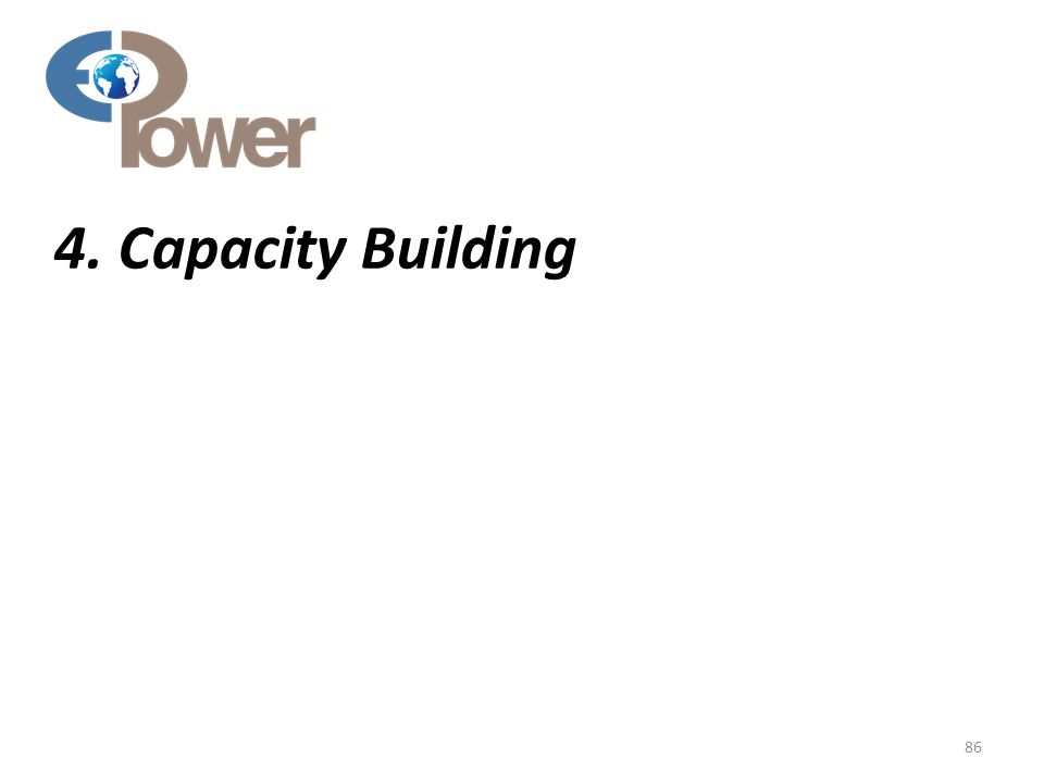 4. Capacity Building 86