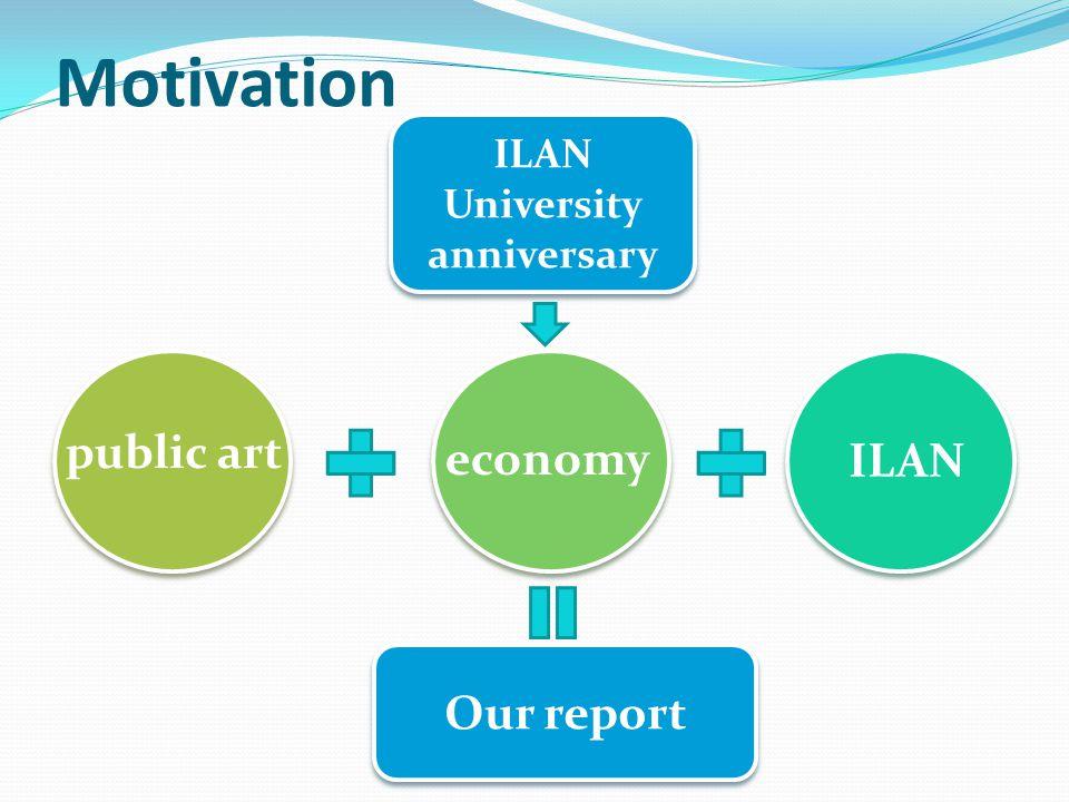 Motivation ILAN University anniversary public art economy ILAN Our report