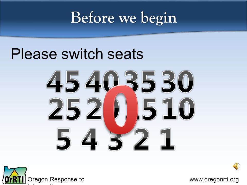 Oregon Response to Intervention www.oregonrti.org Vision Statement all students Our school district and community are committed to high expectations and high standards.