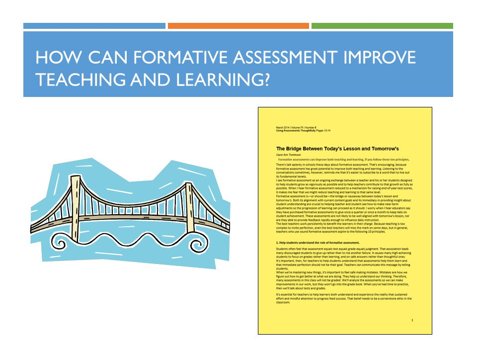 HOW CAN FORMATIVE ASSESSMENT IMPROVE TEACHING AND LEARNING?