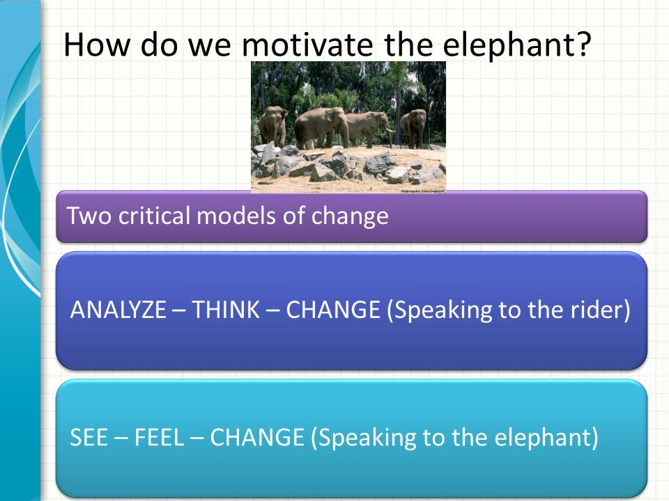How do we motivate the elephant.