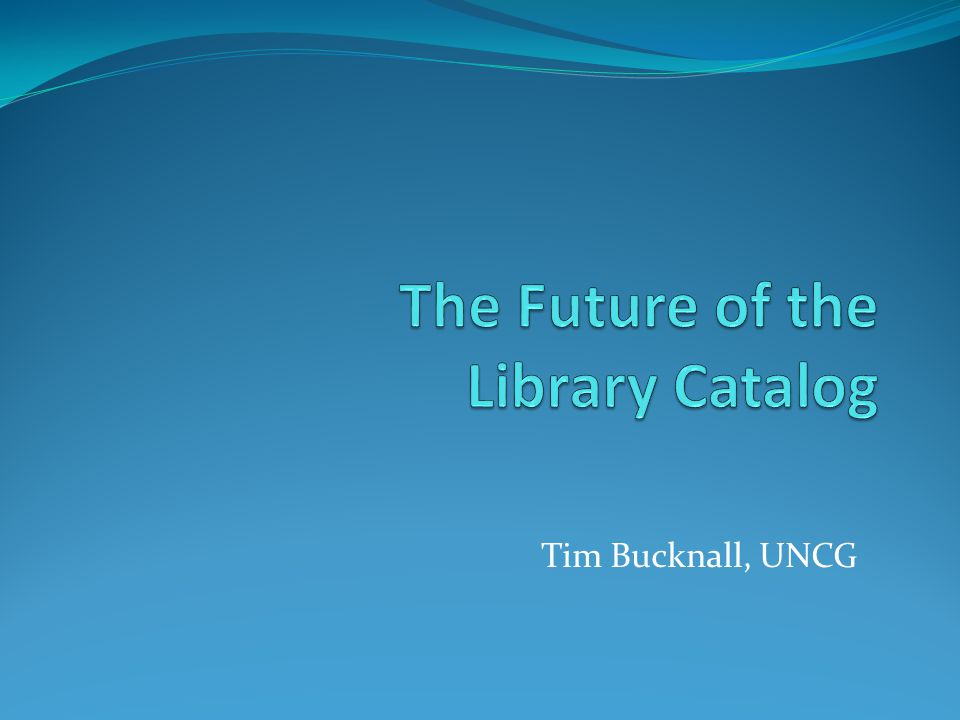 Tim Bucknall, UNCG