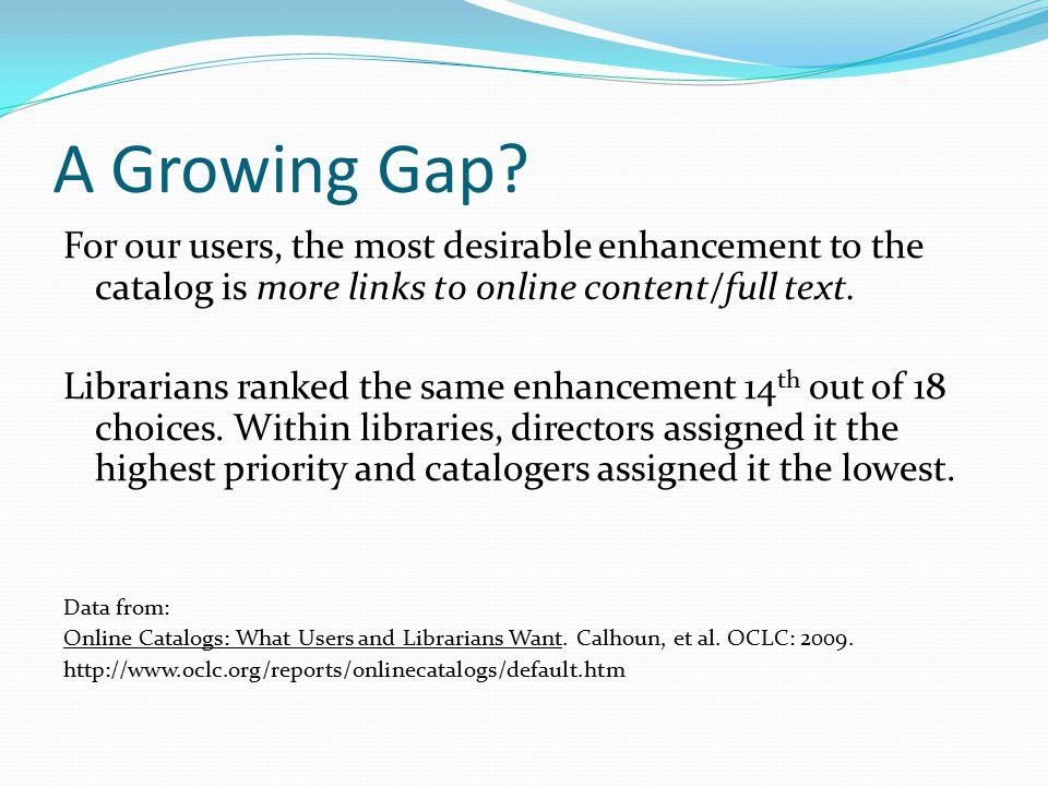A Growing Gap.