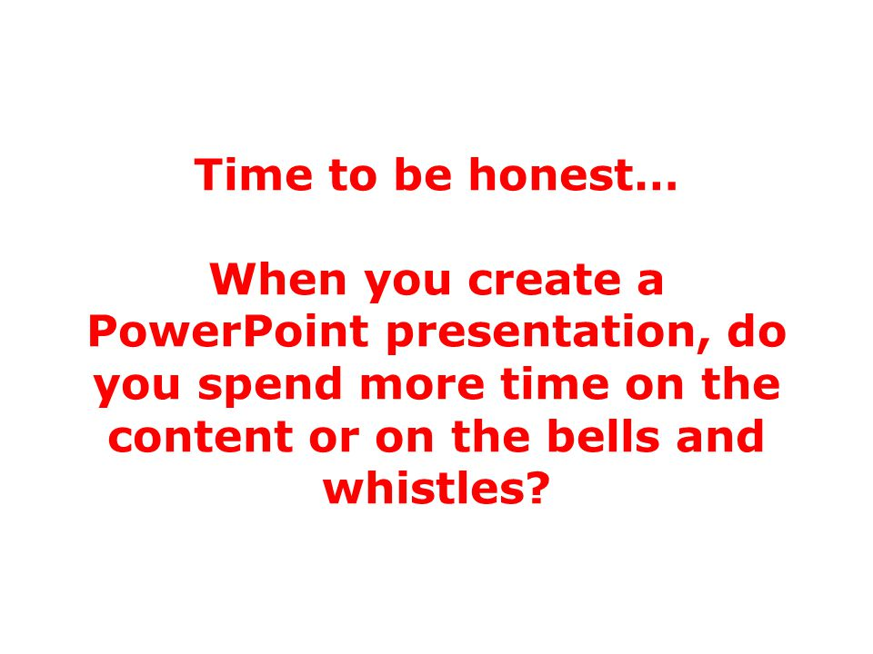 The problem with PowerPoint Why.
