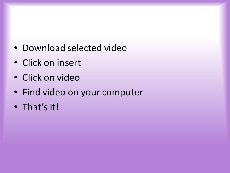Once you are at discoveryeducation.com and have logged in you have access to thousands of short or long videos to insert in your powerpoint Use these videos wisely…