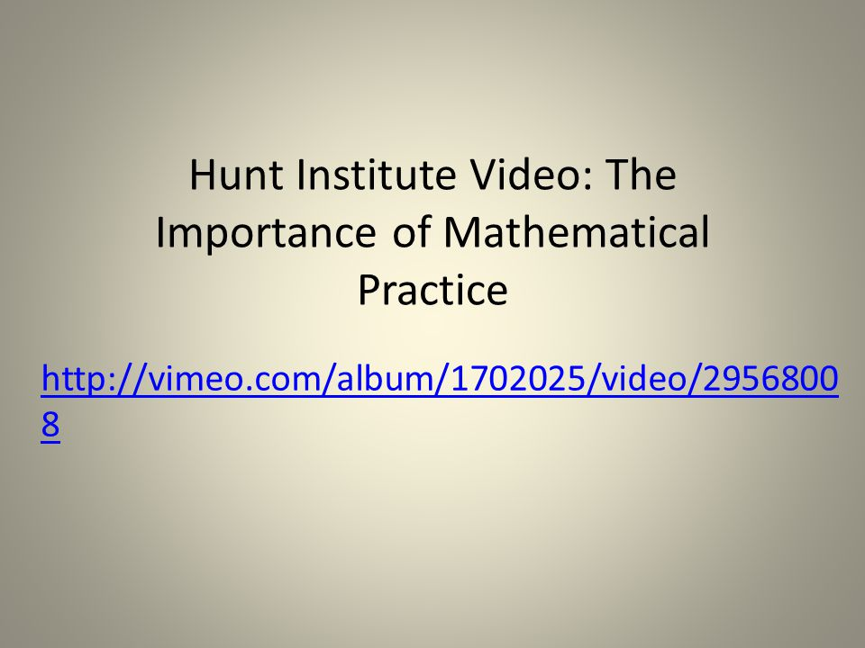 See Inside Mathematics Videos for good examples of the Practice Standards in action.