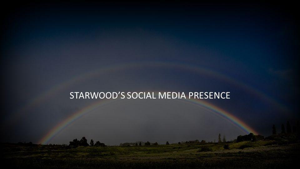 STARWOOD'S SOCIAL MEDIA PRESENCE