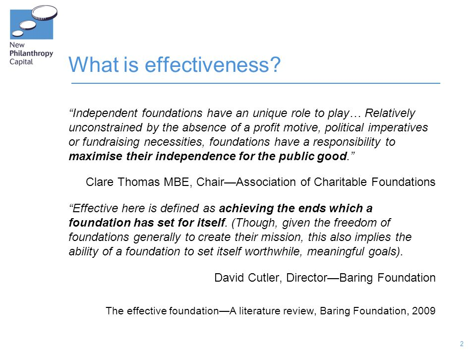 2 What is effectiveness.