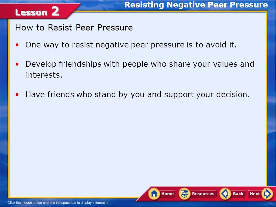 Lesson 2 Common Methods of Manipulation Peer Pressure