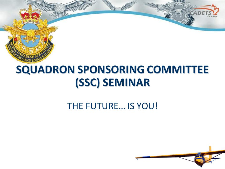 SSC TRAINING SEMINAR – 2014 52 COMMUNICATION CHANNELS National PresidentCadet Director Provincial President Executive director / Vice- chairman Regional Coordinator / Squadron Advisor Squadron Chairperson RCSU CO RCO Air Management & Training Advisor Squadron's CO SQUADRON