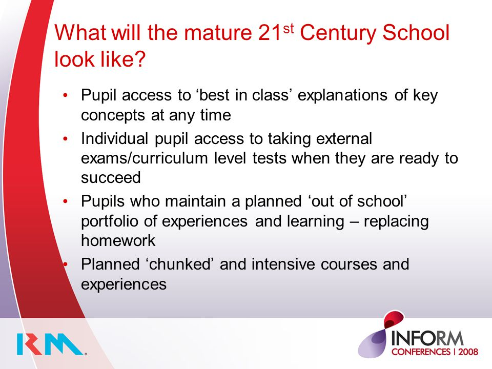 What will the mature 21 st Century School look like.