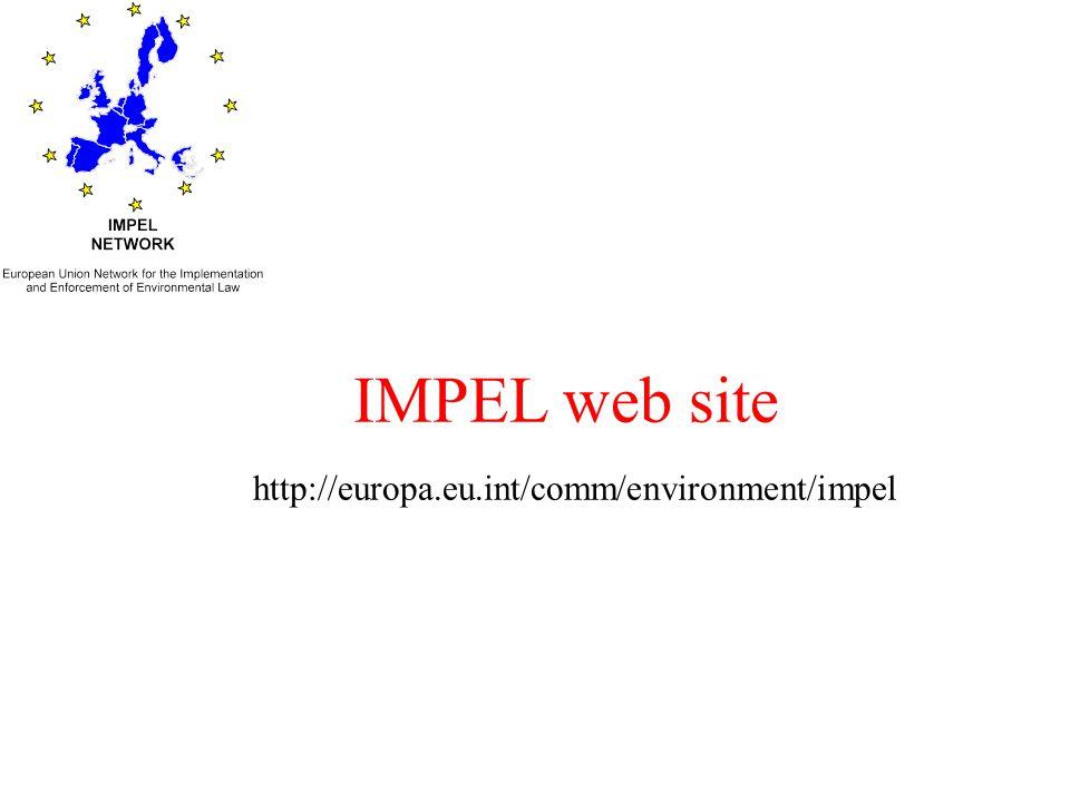 IMPEL web site http://europa.eu.int/comm/environment/impel