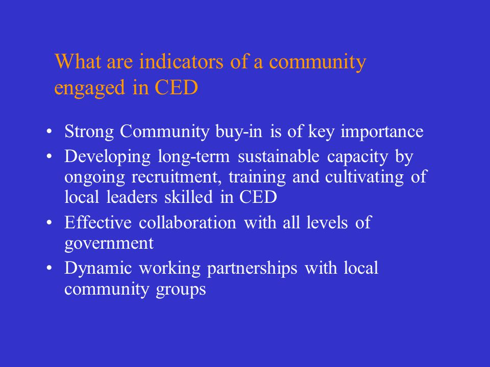 Do you have indirect involvement in CED.