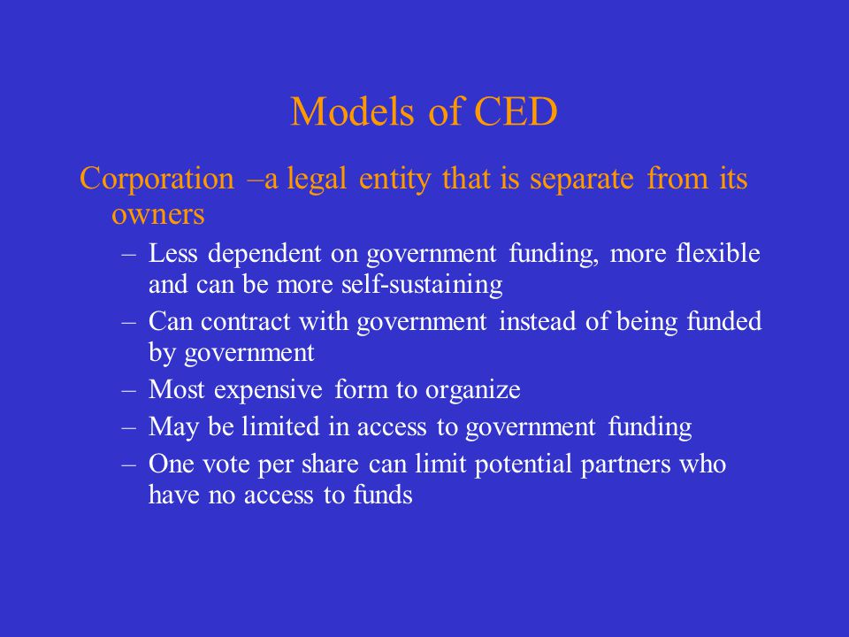 Models of CED Commission - most common model.
