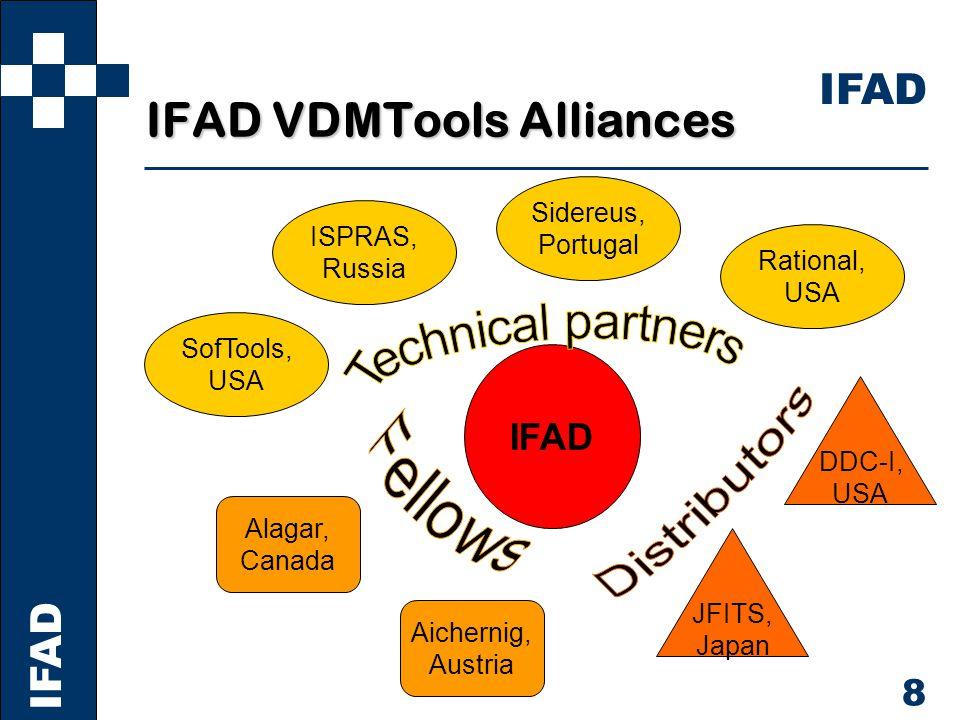 IFAD 9 References, World-wide France Aerospatiale Espace et Defense Dassault Aviation Dasssault Electronique CISI CEA et Defense CEA Leti Cap Gemini LAAS Matra Bae Dynamics U.K.