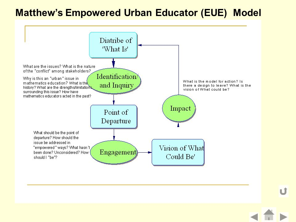 Matthew's Empowered Urban Educator (EUE) Model